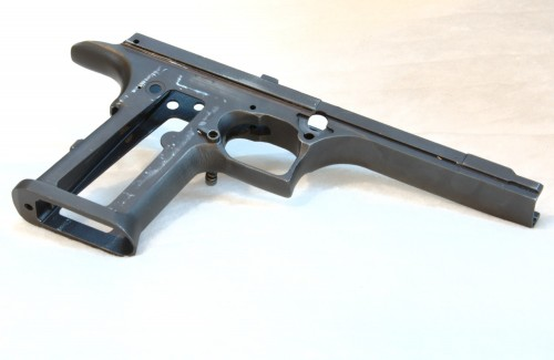 Desert Eagle frame stripped all the way down including magazine release