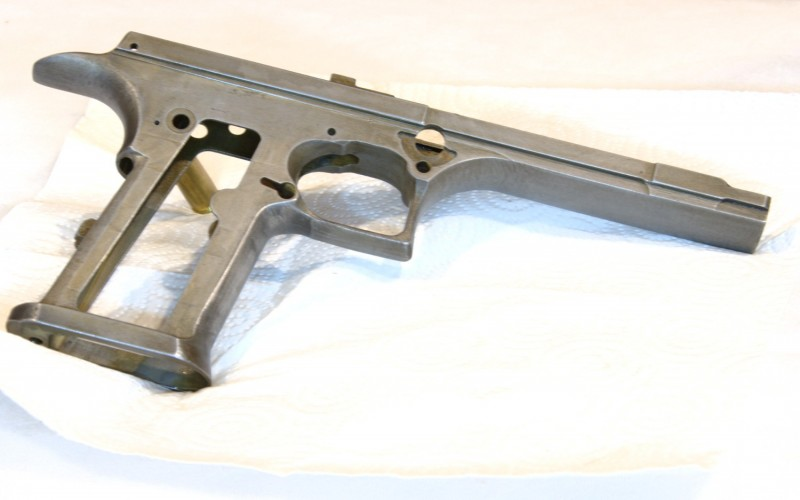NIckel boron coated desert eagle frame