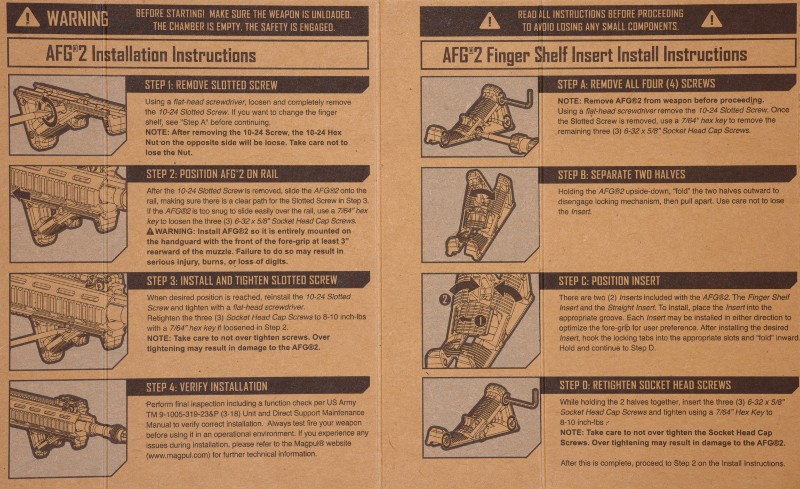 Afg and afg-2 magpul instructions