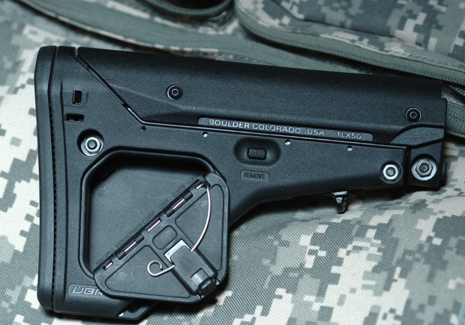 UBR Stock with storage compartment for AR15